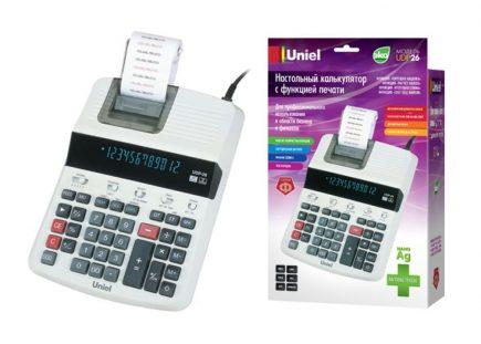 26 Калькулятор Uniel UDP-26 с печатью