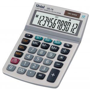 Калькулятор Uniel UD-78 (12 разр)