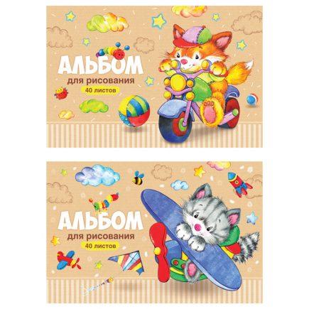 Альбом для рисования 40 листов А4 ArtSpace Веселые мультяшки А40_20249