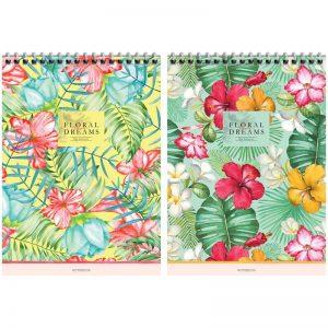 Блокнот А5 80л, на гребне, ArtSpace Цветы. Floral dreams, Б5к80гр-28951