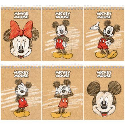 Блокнот А6 40л на гребне Hatber Disney. Микки Маус 40Б6В1гр