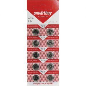 Батарейка Smartbuy AG10 1.5V 389, LR1130, LR54