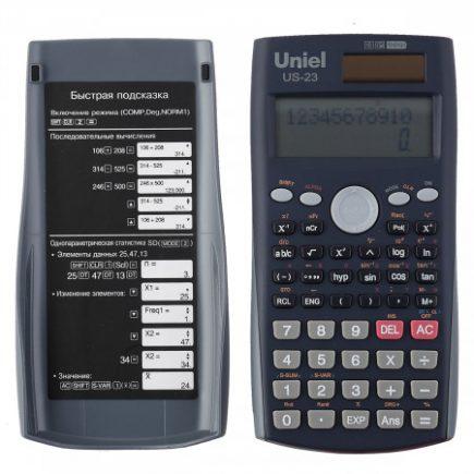 23 Калькулятор Uniel US-23 инженерный (10+2разр)
